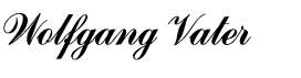 Wolfgang Vaters Unterschrift