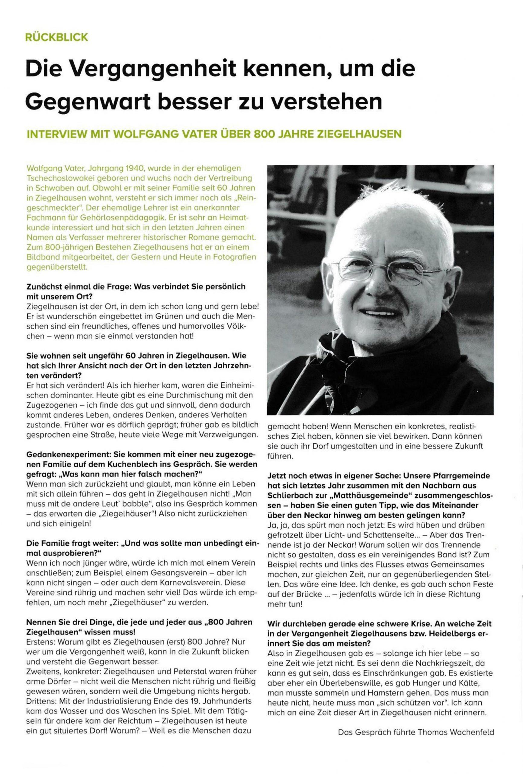 Gemeindebrief 2020 Interview